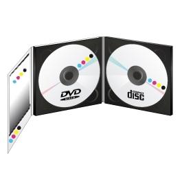 PACK 1000 CD + 1000DVD5Go en Digipack 3 volets +Livret 12 pages 4/4 + Thermofilmage