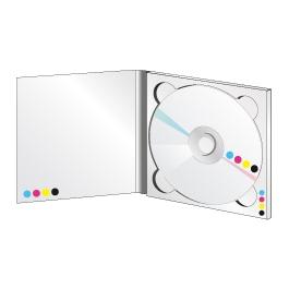 Digipack 2 volets plateau transparent sans livret
