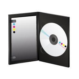 DVD en boitier Amaray noir avec livret