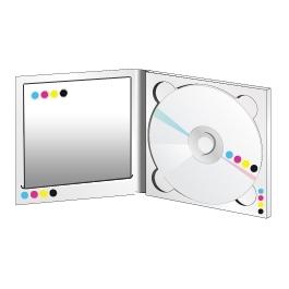 Digipack 2 volets plateau transparent avec livret en insertion standard